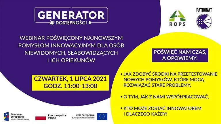 Generator Dostępności: Webinar inspiracyjny