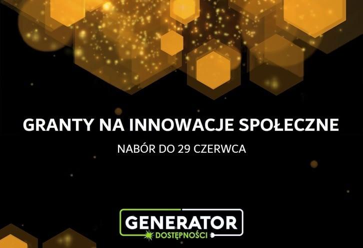 Generator Dostępności: II tura naboru zgłoszeń – ogłoszenie o naborze