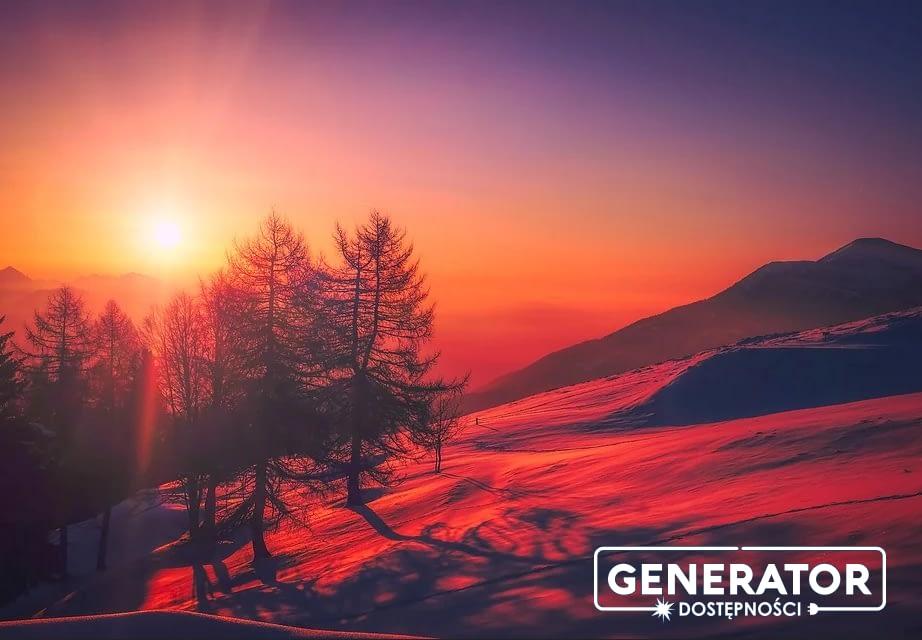 Generator Dostępności - logo z zimowym tłem